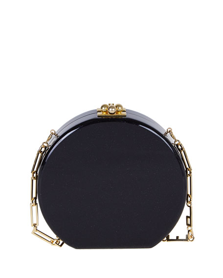 Oscar Wow! Circle Clutch Bag, Obsidian Multi