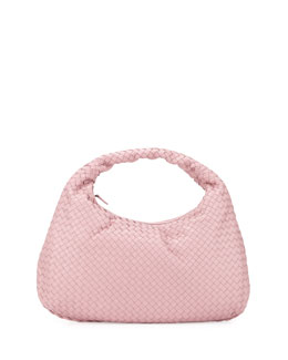 Veneta Intrecciato Large Hobo Bag, Light Pink