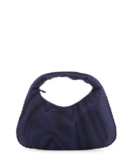 Veneta Intrecciato Maxi Hobo Bag, Royal Blue