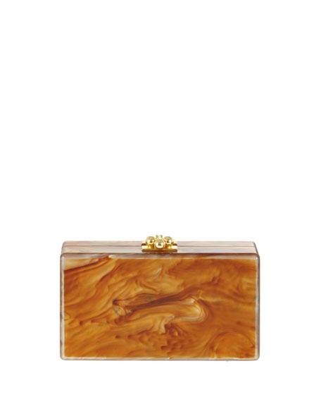 Jean Acrylic Clutch Bag, New Mica White