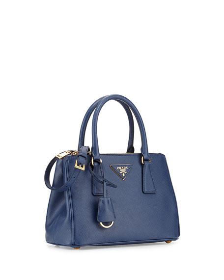 Saffiano Mini Double-Zip Tote Bag
