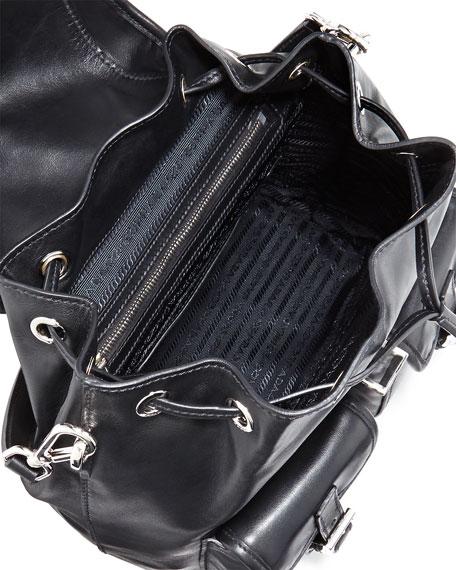 Prada Soft Calfskin Shoulder Bag, Black (Nero)