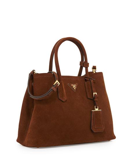 49ef0d14b2f77 Prada Suede Small Double Bag