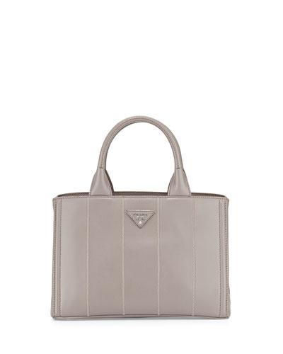 Soft Calfskin Small Garden Bag, Gray (Argilla)