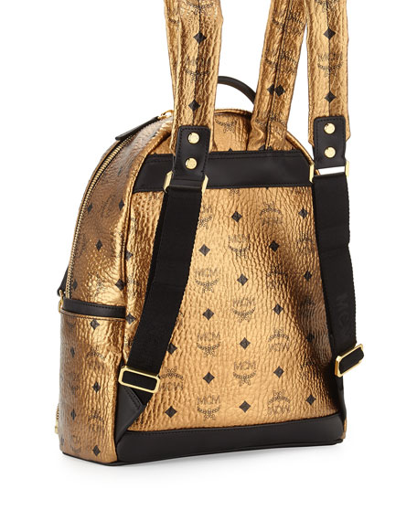 Dual Stark Small Backpack, Gold