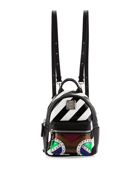 Roboter Series Convertible Mini Backpack, Multicolor