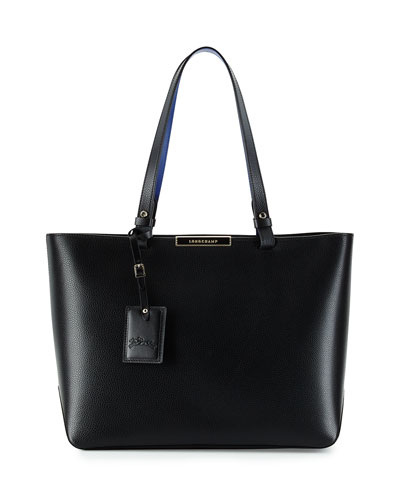 Le Foulonne City Medium Tote Bag, Black