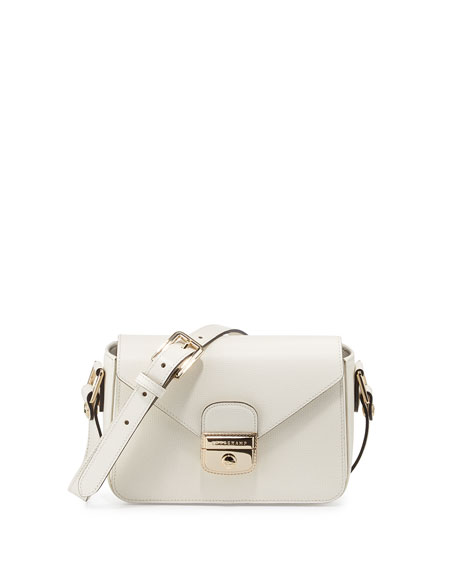 Longchamp Le Pliage Heritage Small Crossbody, Ecru