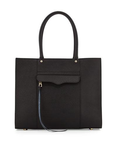 MAB Saffiano Medium Tote Bag, Black