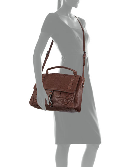 Kooba Victoria Crossbody Satchel Bag, Chocolate Brown
