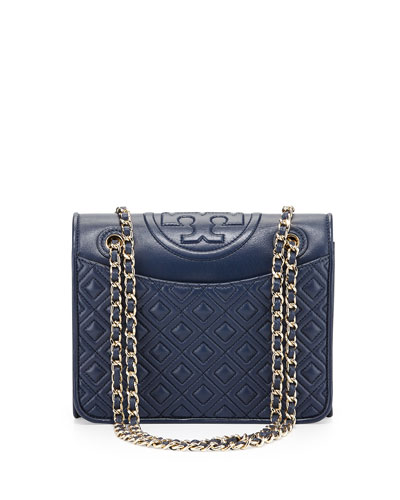 Fleming Quilted Patent Saffiano Leather Flap Bag, Hudson Bay