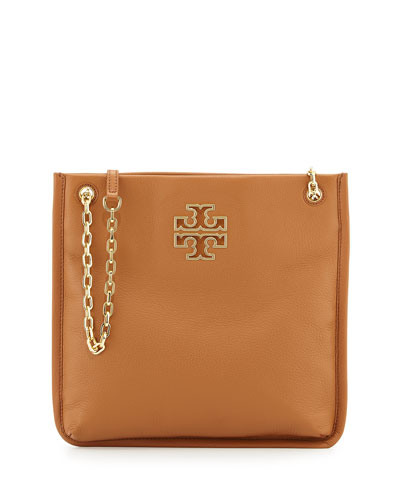 Tory Burch Britten Swingpack Leather Bag, Bark