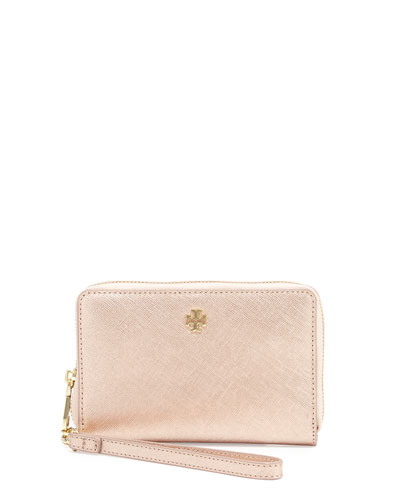 York Smartphone Wristlet Wallet, Rose Gold