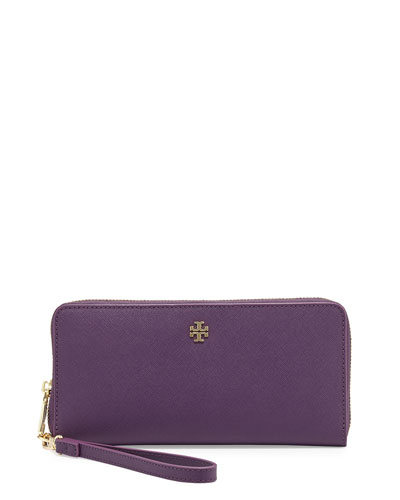 York Zip-Around Passport Continental Wallet, Purple Iris
