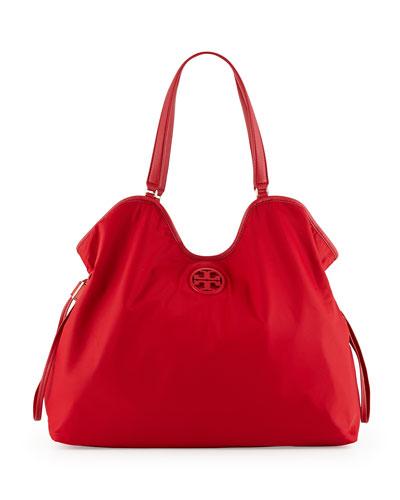 Nylon Slouchy Tote Bag, Kir Royale