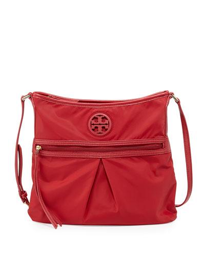 Nylon Swing Pack Crossbody Bag, Kir Royale