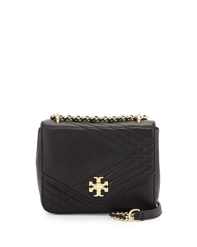 Kira Mini Quilted Crossbody Bag, Black