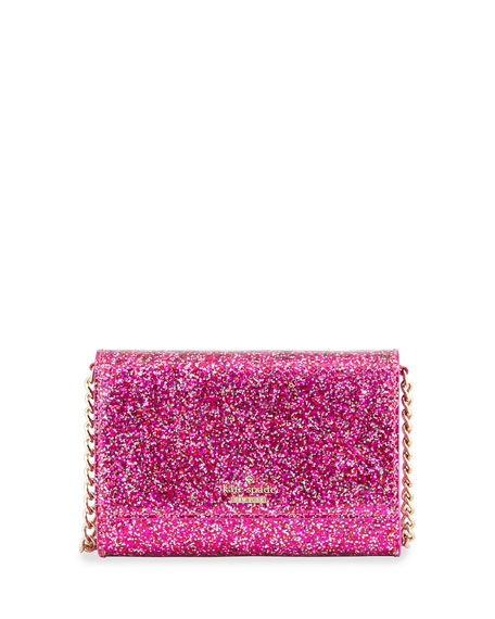 glitter bug cami crossbody bag, red/multi