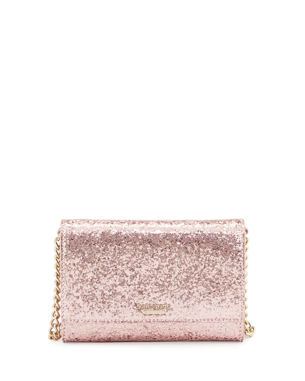 62b6c85b0 kate spade new york glitter bug cami crossbody bag, rose   Neiman Marcus