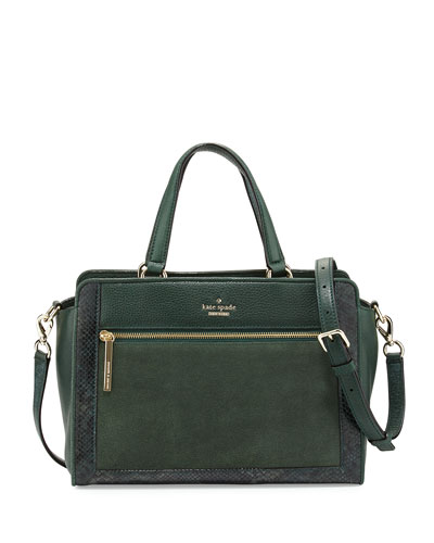 chatham lane harlan satchel bag, forest leaf