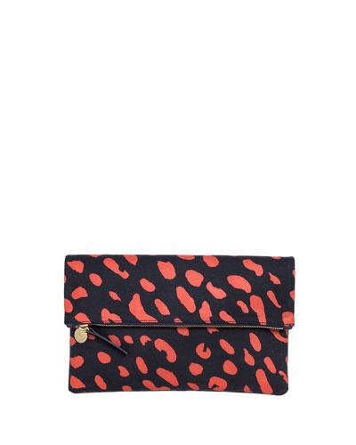 Supreme Fold-Over Clutch Bag, Navy/Poppy