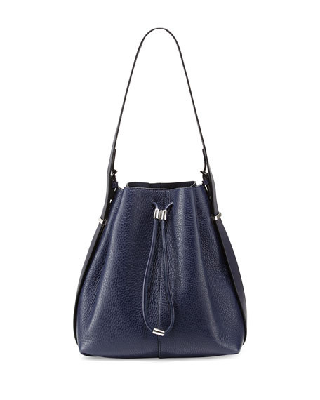 Alexander Wang Prisma Drawstring Bucket Bag, Navy