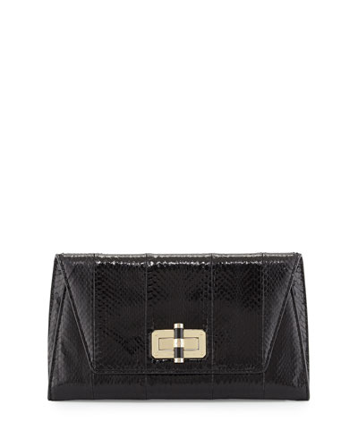 440 Gallery Uptown Clutch Bag, Black