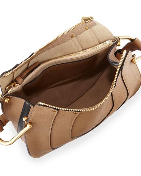 0961b5e6 Hayley Small Leather Hobo Bag, Nut