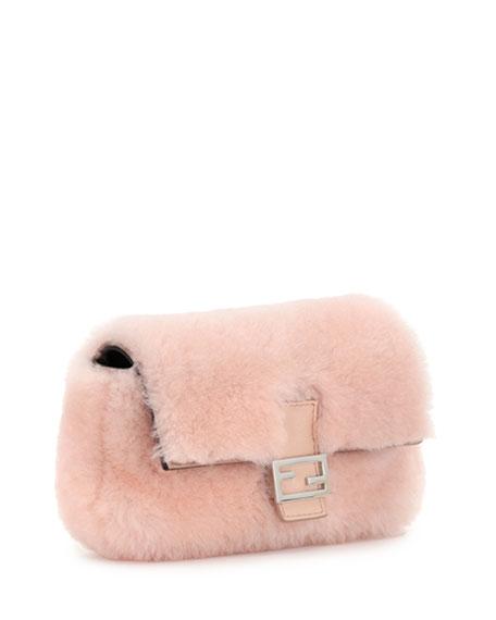 prada mink-trimmed shoulder bag