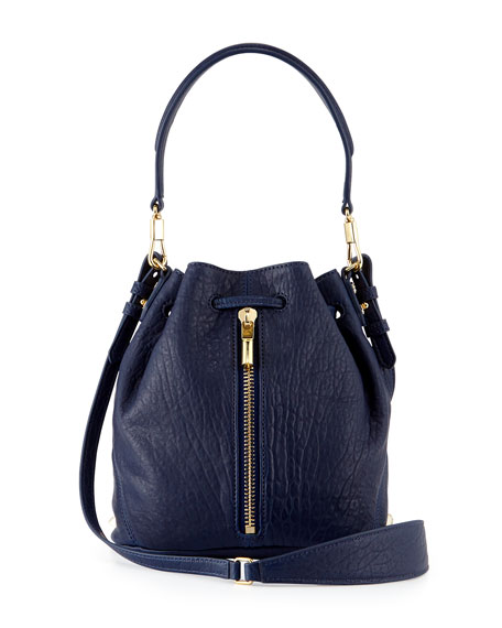 Elizabeth and James Cynnie Mini Large-Grain Bucket Bag,