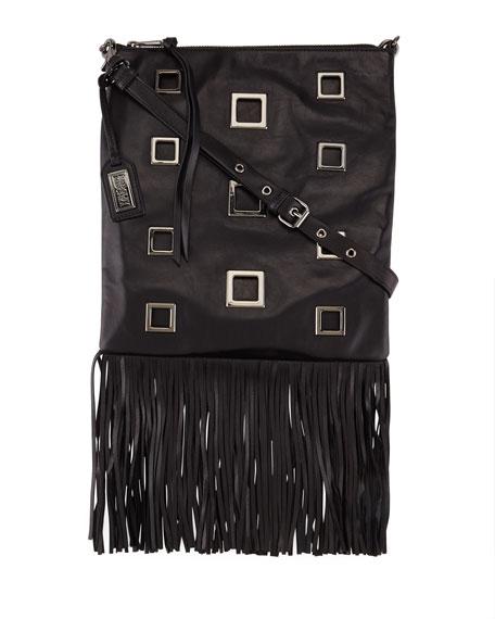 Badgley Mischka Lisa Napa Leather Fringe Tote Bag,