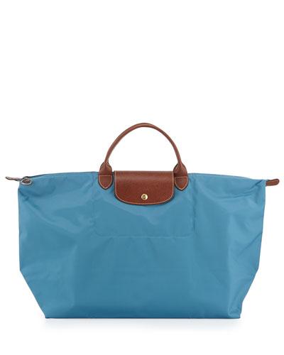 Le Pliage Large Travel Bag, Ice Blue