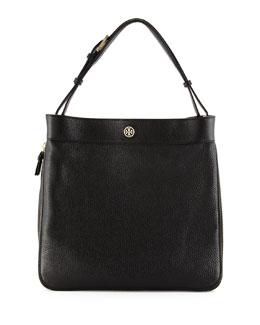 Robinson Pebbled Hobo Bag, Black