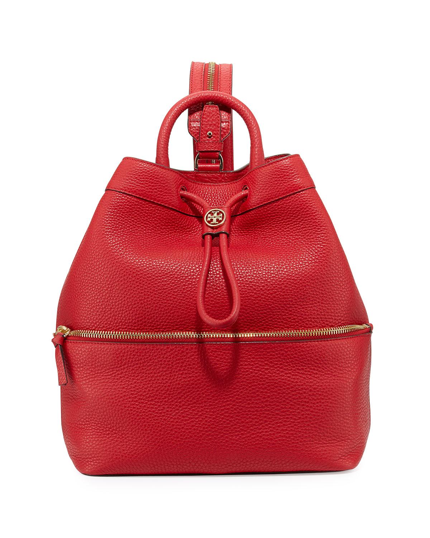 279e53b1f929 Tory Burch Robinson Pebbled Leather Backpack Bucket Bag