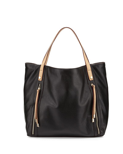 Rachel Leather Tote Bag, Black