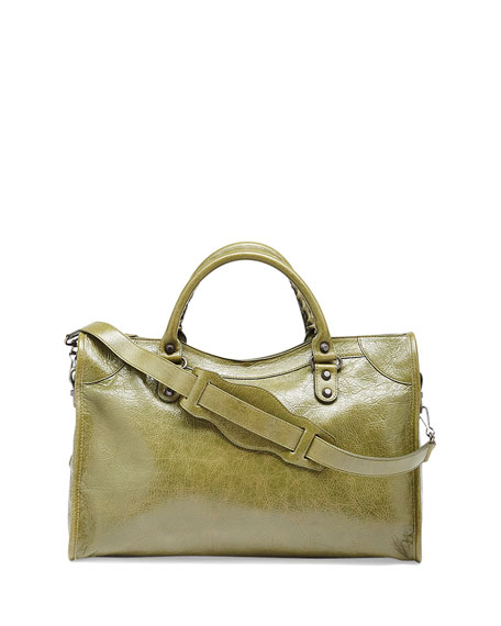 Classic City Crinkle Calf Bag