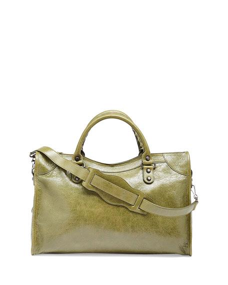 Classic City Crinkle Calf Bag