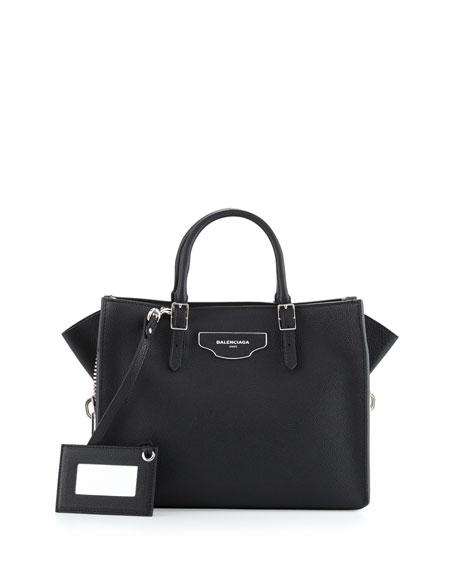 Balenciaga Papier Small Zip-Around Tote Bag, Black