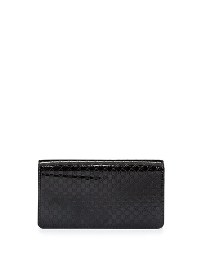 Broadway Medium Microguccissima Clutch Bag, Nero