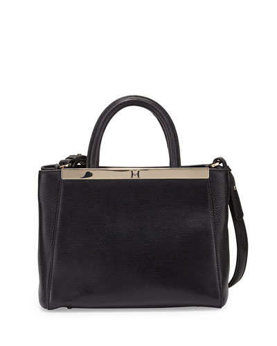 Mini Satchel Bag, Black