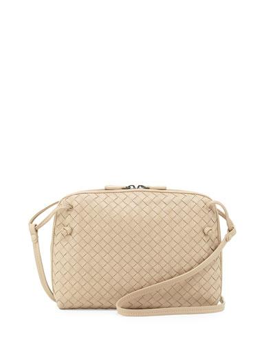 Veneta Small Crossbody Bag, Off White