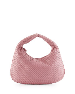 Veneta Medium Sac Hobo Bag, Mallo Pink