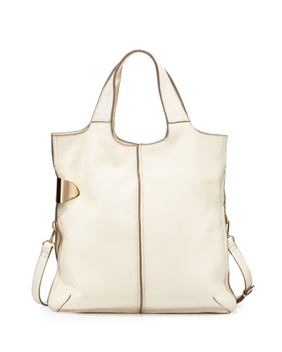 Two-Tone Tote Bag, Chalk