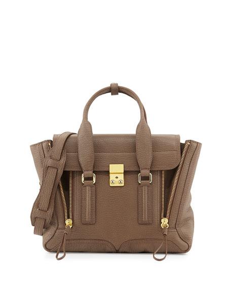 3.1 Phillip LimPashli Medium Zip Satchel Bag, Taupe