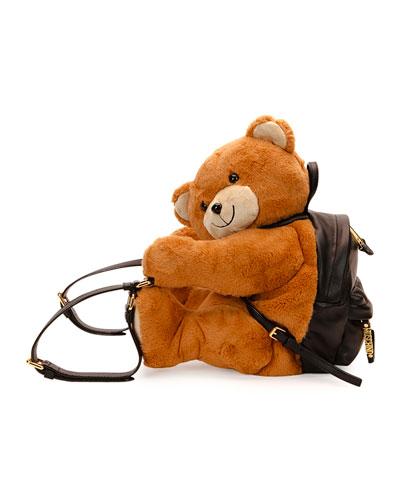 Teddy Bear Leather Backpack