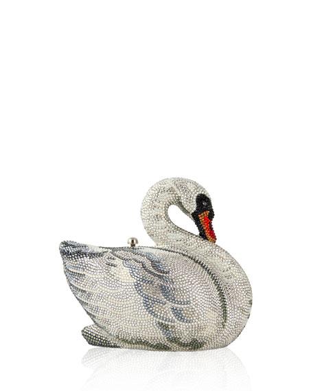 Swan Crystal Minaudiere