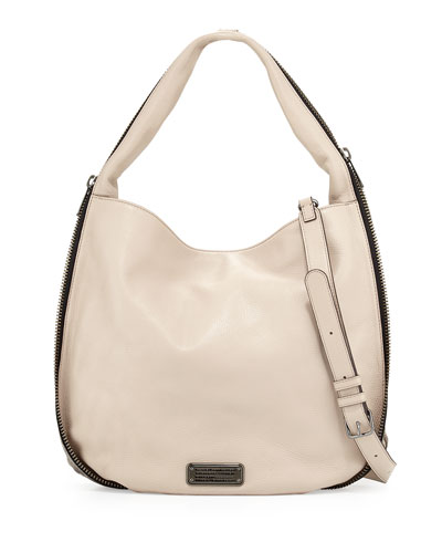 New Q Zippers Hillier Hobo Bag, Papyrus
