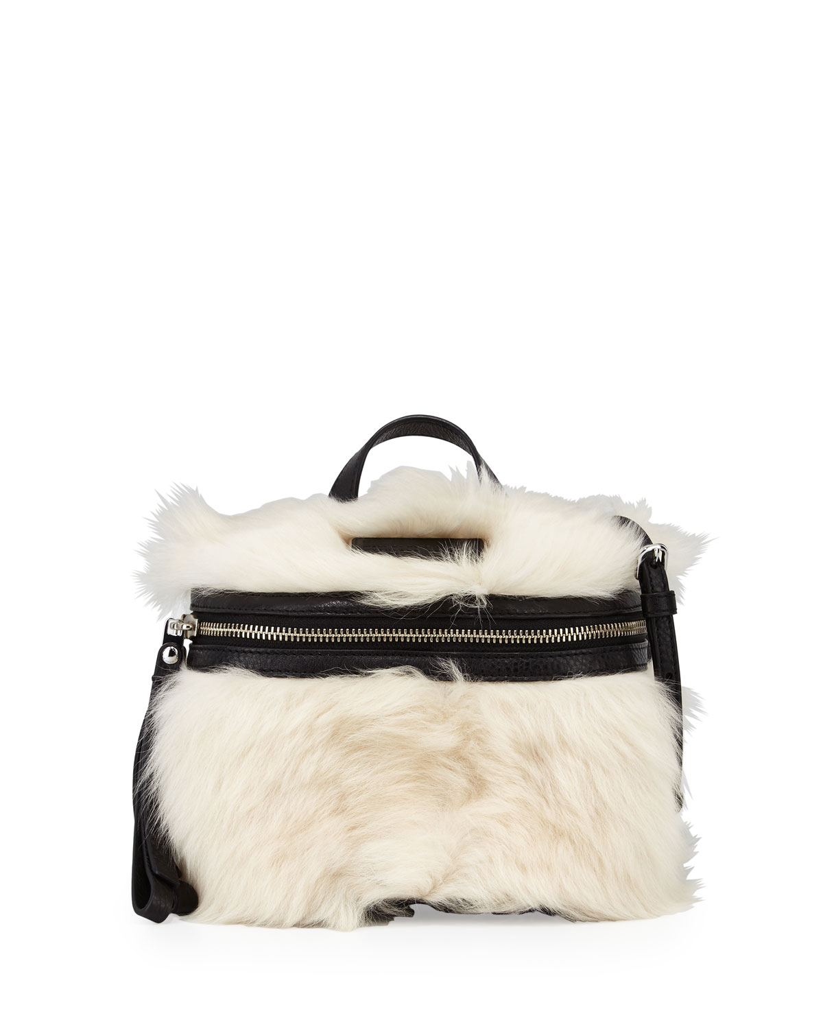 8b3f148a2ad0 MARC by Marc Jacobs Canteen Shearling Fur   Leather Crossbody Bag ...