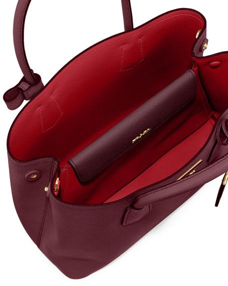 bb416eb553d8 Prada Saffiano Medium East-West Tote Bag