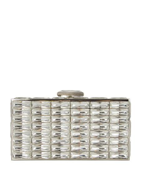 New Goddess Crystal Clutch Bag, Silver